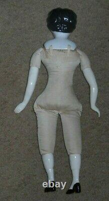 Antique German China Head Porcelain Doll With Doll Plans