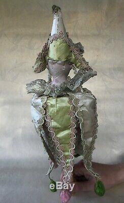 Antique German Porcelain Doll, Marotte, Music Box, Schoenau & Hoffmeister, 14