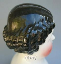 Antique German Victorian Large Porcelain China Head Doll Shoulderhead