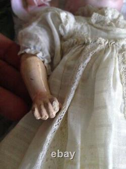 Antique Heubach or Heinrich Handwerke Small 14 Porcelain Doll Germany Horseshoe