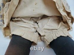 Antique Huge 1850 Kestner Covered Wagon 25 China Head Doll RARE Brown Eyes Orig