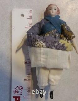 Antique Miniature Dollhouse Doll Bisque Porcelain 5 inch 112 Scale
