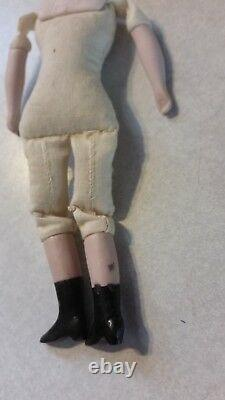 Antique Miniature Dollhouse Man Doll Porcelain 6