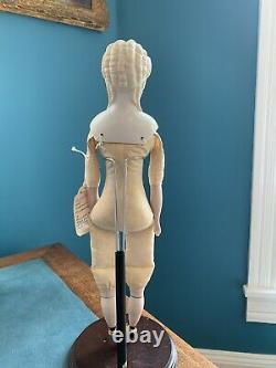 Antique Parian Bisque Doll Molded Blond Hair Beautiful! 16 Tall