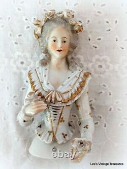 Antique Pincushion Doll, Half Doll, Germany, Porcelain Miniature Doll, Figurine