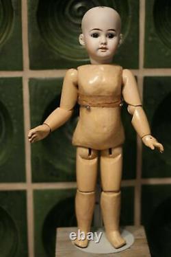 Antique Porcelain Doll JJ JULLIEN JEUNE Doll c1904 w Teddy & Original Dress