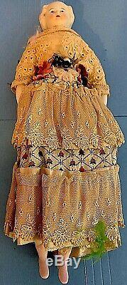 Antique Porcelain Doll. Vintage