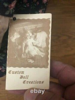 Antique Porcelain Grandma Doll in Rocking Chair