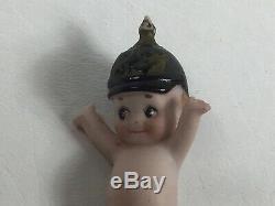 Antique Porcelain Kewpie Miniature Soldier Doll ONeill Prussian Helmet