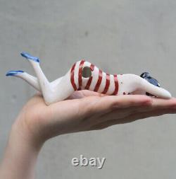 Antique Porcelain vintage German Nude bathing NAUGHTY doll figurine art deco