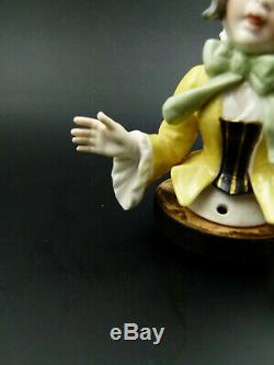 Antique & Rare German Dressel & Kister Half Doll Girl Porcelain Figurine