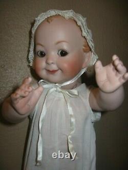 Antique Reproduction GOOGLY EYED German Hertel Schwab 172 Bisque Porcelain Doll