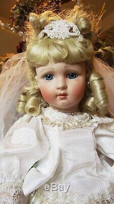 Antique Reproduction Long Face Jumeau Porcelain Bride Patricia Loveless Doll New