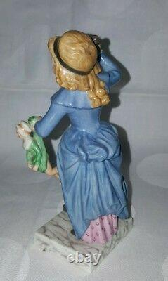 Antique Royal Copenhagen Porcelain Figurine Girl with doll and whip