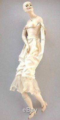 Antique Vintage 16 Hand Made/Painted Bisque Cloth Doll'Mistinguette