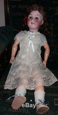 Antique Vintage Porcelain Heubach Doppelsdorf 250.3 1/2 23 Doll Velvet Jacket