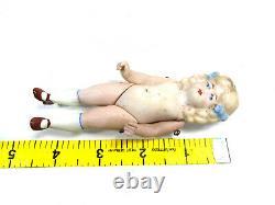 Antique german bisque porcelain dollhouse doll, Limbach, 4.4, miniature doll