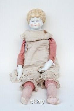 Antique porcelain bisque china head doll German Victorian
