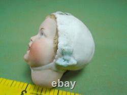 Antique porcelain doll head, Recknagel 22, 2.2, doll making & repair part
