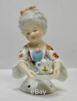 Antique porcelain half doll William Goebel Child face teapot / chocolate