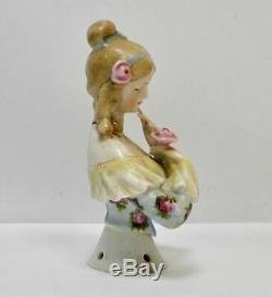 Antique porcelain half doll William Goebel Jenny Lind