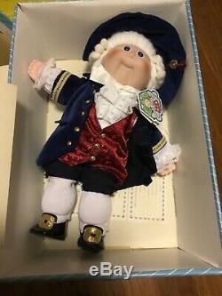 Applause L. E. 16 inch Vintage Porcelain George Washington Cabbage Patch Doll