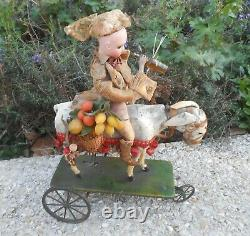 BEAUTIFUL MECHANICAL TOY FRENCH PORCELAIN DOLL circa 1890s
