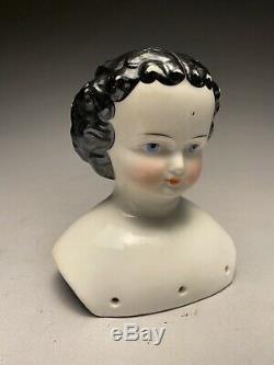Beautiful Antique 19c. German Porcelain Blue Eyes Doll Head