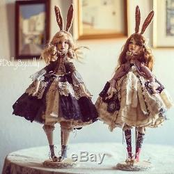Bella. Handmade doll, Boudoir Collectible Art Doll, Vintage Doll, Antique doll