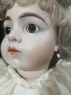 Bru jne 11 french bisque antique reproduction porcelain doll 25