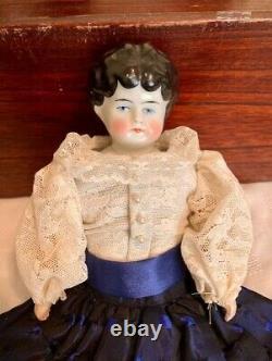 Ca 1910 Hertwig 13 Pet Name Lowbrow China Head Doll German Kidolene Body