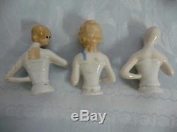 Collection Of 19 Vintage/antique Porcelain Half Dolls, Most German