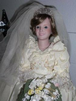 Danbury Mint Princess Diana 21 Porcelain Royalty Wedding Gown Doll