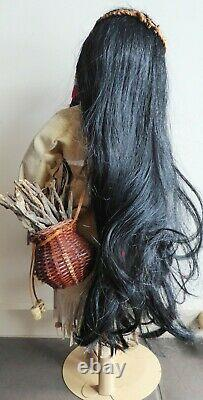Dianna Effner Designer Porcelain Doll, Emily American Indian Vintage Doll