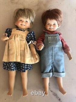 Dianna Effner RARE 1984 Wildflower Dolls 10 19/50 Beanie & Skeeter