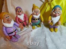 Disney Snow White Doll Porcelain Franklin Mint with the seven dwarfs