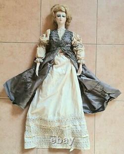 Doll Boudoir Vintage Large CM 80