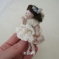 Dollhouse ARTISAN PORCELAIN CRYING GIRL DOLL Little Child Handmade Artist Made