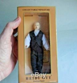 Dollhouse Miniature Heidi Ott Porcelain Man Doll Vintage