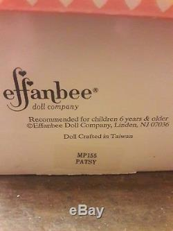EFFANBEE PATSY PORCELAIN DOLL 1988 MP133 Vintage Pink dress Bonnet