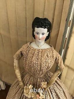 Early China head Doll with rare Hairstyle (layaway is possible)