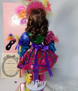 Effanbee Porcelain 20 MARDI GRAS DOLL Limited Edition #213 Masquerade Mask P210