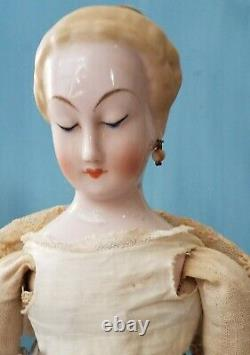 Emma Clear Nymphenburg Doll Pink Tint China Head Antique Reproduction VTG 1945