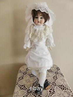 Ernst Heubach 1900 Bisque Doll, 19 inch Antique German Porcelain Doll