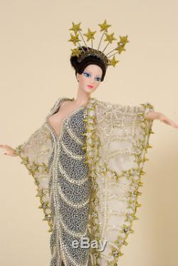 Erte Stardust Vintage Barbie Porcelain Art Doll Limited Edition 1st In A Series