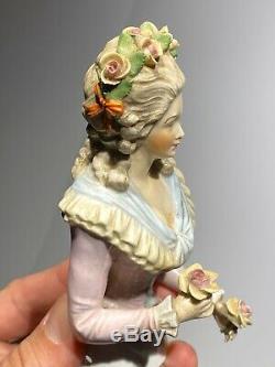 Exceptional Antique German Large 5 Half-doll Porcelain China Dressel Kister