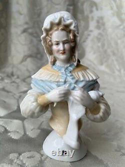 Exceptionnal Rare Half-doll/demi-figurine/teepuppe/pincushion Doll/ A. W. Kister