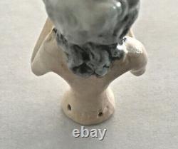 GERMAN Vintage ANTIQUE Porcelain Bisque HALF-DOLL Germany #14725