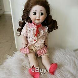 GOOGLY EYE DOLL ARTIST Doll ALL BISQUE Porcelain LE Doll JOINTED Vintage Doll