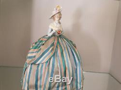 German 19th porcelain half doll pincushion Madame Elisabeth Louise Vigée le brun